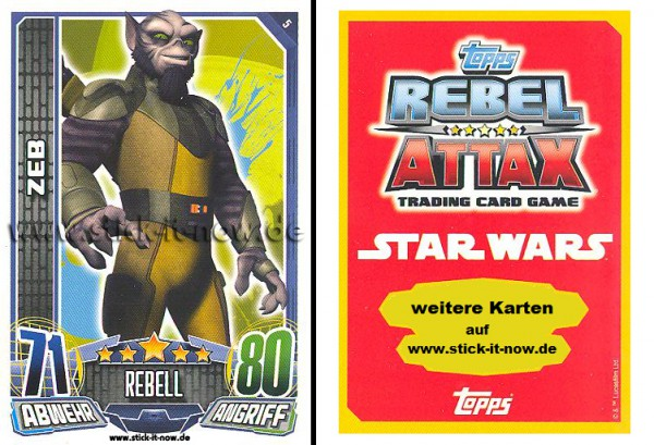 Rebel Attax - Serie 1 (2015) - ZEB - Nr. 5