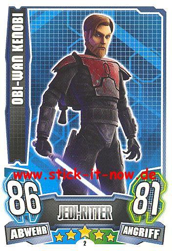 Force Attax - Star Wars - Clone Wars - Serie 4 - OBI-WAN KENOBI - Nr. 2