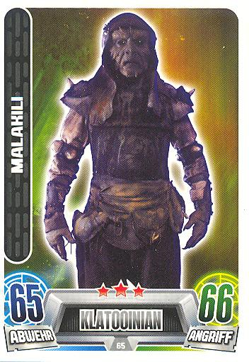 Force Attax Movie Collection - Serie 2 - Malakili - Nr. 65