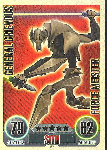 Force Attax - GENERAL GRIEVOUS - Sith - FORCE MEISTER - SERIE 1 (2010)