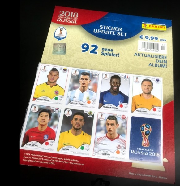 "Panini WM 2018 Russland ""Sticker"" - Update Set"