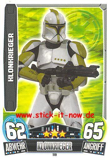 Force Attax Movie Collection - Serie 3 - KLONKRIEGER - Nr. 119
