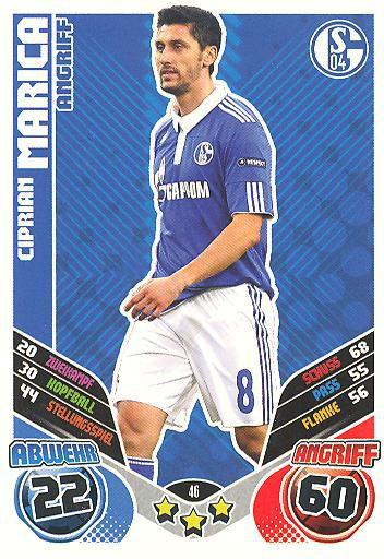 Match Attax 11/12 Extra - CIPRIAN MARICA - FC Schalke 04 - Nr. 46