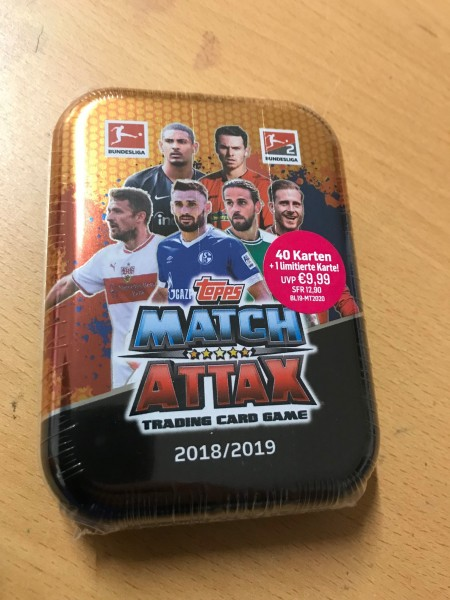 Topps Match Attax Bundesliga 18/19 - Mini-Tin Dose (40 Karten + 1 limitierte Karte )
