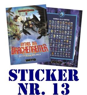 """Netto - Mythos der Drachenreiter (2019) """"Sticker"""" - Nr. 13"""