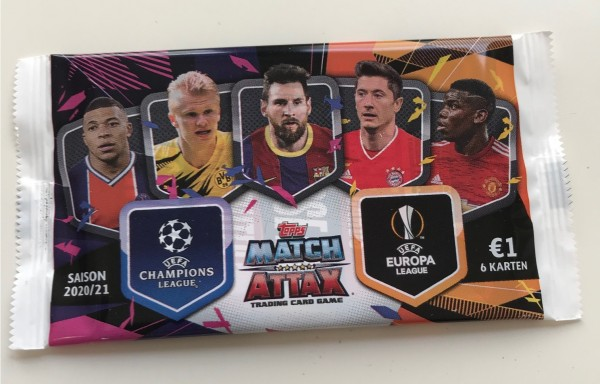 Match Attax Champions League 2020/21 - Booster ( 6 Karten )