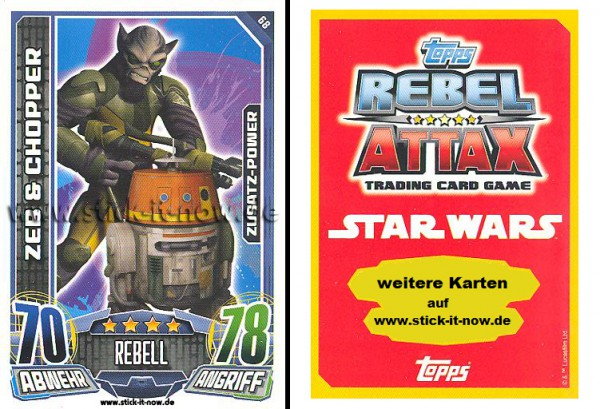Rebel Attax - Serie 1 (2015) - ZEB & CHOPPER - Nr. 68