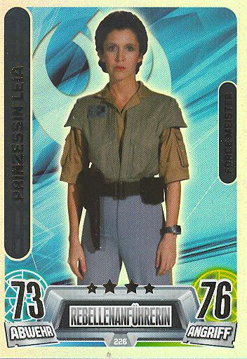 Force Attax Movie Collection - Serie 2 - Force-Meister - Prinzessin Leia - Nr. 226