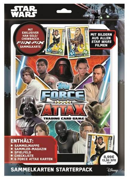 Topps Star Wars FORCE ATTAX UNIVERSE (2017) - Starter-Set