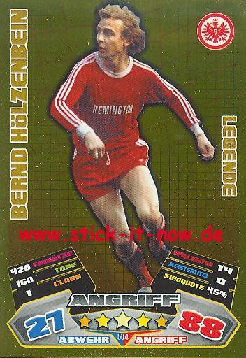 Match Attax 12/13 EXTRA - Bernd Hölzenbein - Ein. Frankfurt - LEGENDE - Nr. 504