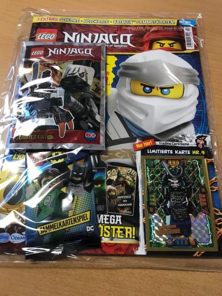 Lego Ninjago Magazin Nr. 50 (mit Lego Figur, Batman Booster und LE9)