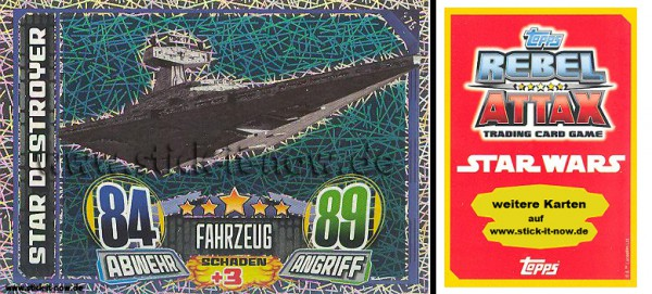 Rebel Attax - Serie 1 (2015) - STAR DESTROYER - Nr. 170 ( Glitzer-Karte )