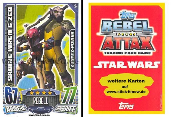 Rebel Attax - Serie 1 (2015) - SABINE WREN & ZEB - Nr. 74