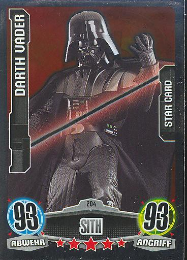 Force Attax - DARTH VADER - STAR-CARD - Sith - Imperium - Movie Collection