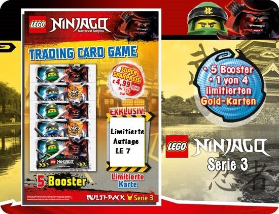 Lego Ninjago Trading Cards - SERIE 3 (2018) - Multipack 3 ( LE 7 )