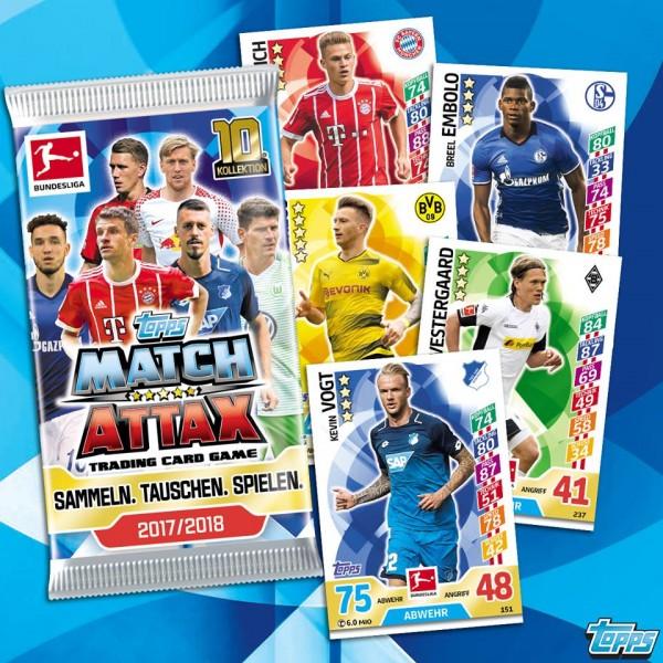 Topps Match Attax Bundesliga 17/18 - 1 Booster (5 Karten)