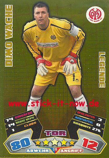 Match Attax 12/13 EXTRA - Dimo Wache - FSV Mainz 05 - LEGENDE - Nr. 518