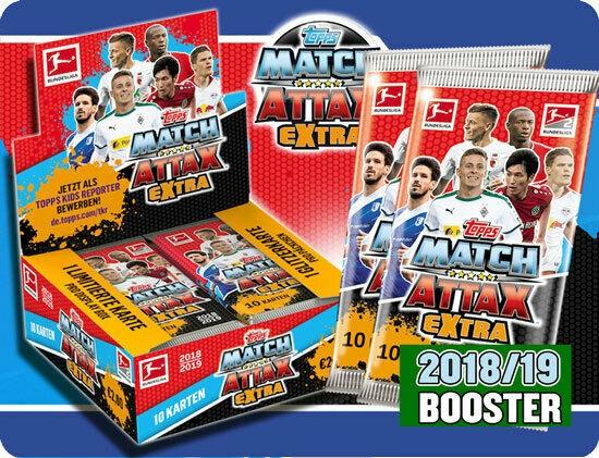 """Topps Match Attax Bundesliga 18/19 """"Extra"""" - Booster ( 10 Karten )"""