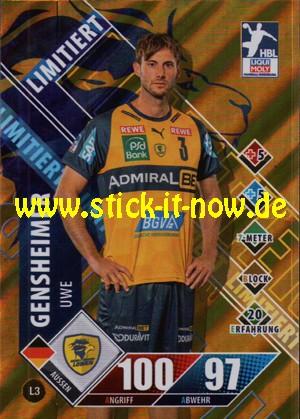 """LIQUI MOLY Handball Bundesliga """"Karte"""" 20/21 - Nr. L3 (Limitiert)"""