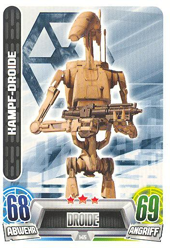 Force Attax Movie Collection - Serie 2 - KAMPF-DROIDE - Nr. 145