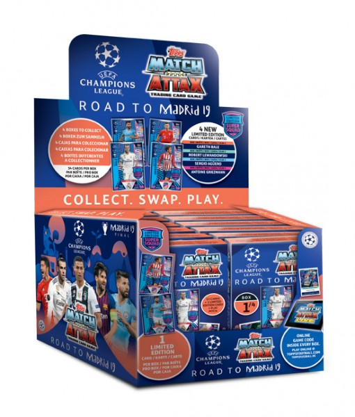 "Match Attax CL 18/19 ""Road to Madrid"" - Display (12 Decks )"