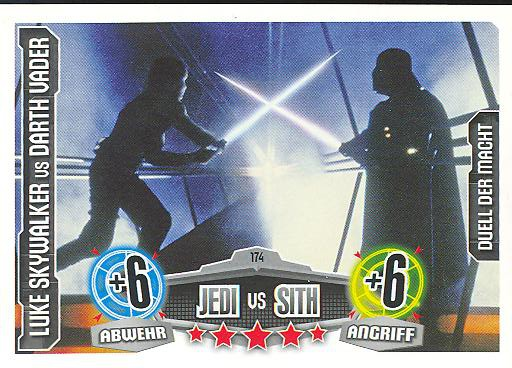 Force Attax - LUKE SKYWALKER vs DARTH VADER - Jedi vs Sith - Duell der Macht - Movie Collection