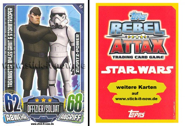 Rebel Attax - Serie 1 (2015) - TASKMASTER MYLES GRINT & STORMTROOPER - Nr. 82