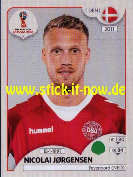 "Panini WM 2018 ""Sticker"" - Nicolai Jorgensen - Dänemark"