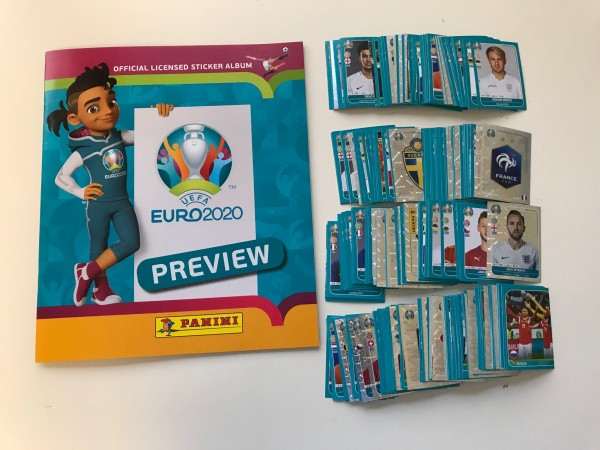 "Panini EM 2020 ""Preview-Collection"" - komplettsatz (alle 568 Sticker + Album)"