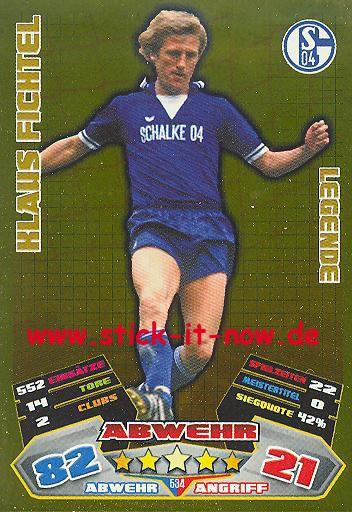 Match Attax 12/13 EXTRA - Klaus Fichtel - FC Schalke 04 - LEGENDE - Nr. 534