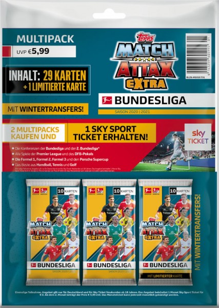 "Topps Match Attax Bundesliga 2020/21 ""Extra"" - Multipack"