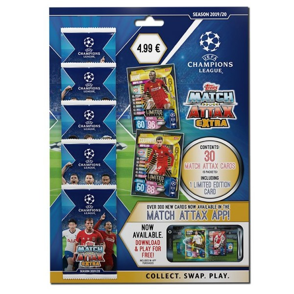 """Match Attax Champions League 2019/20 """"Extra"""" - Multipack"""