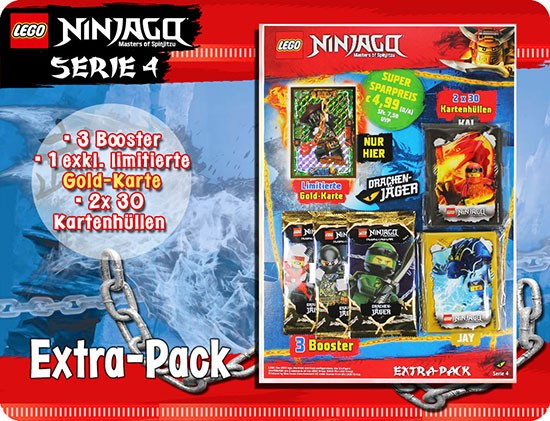 Lego Ninjago Trading Cards - SERIE 4 (2019) - Extra-Pack ( LE22 )