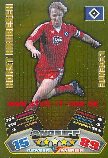 Match Attax 12/13 EXTRA - Horst Hrubesch - Hamburger SV - LEGENDE - Nr. 507