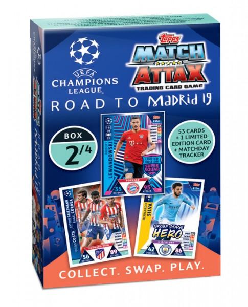 """Match Attax CL 18/19 """"Road to Madrid"""" - Deck 2 von 4"""