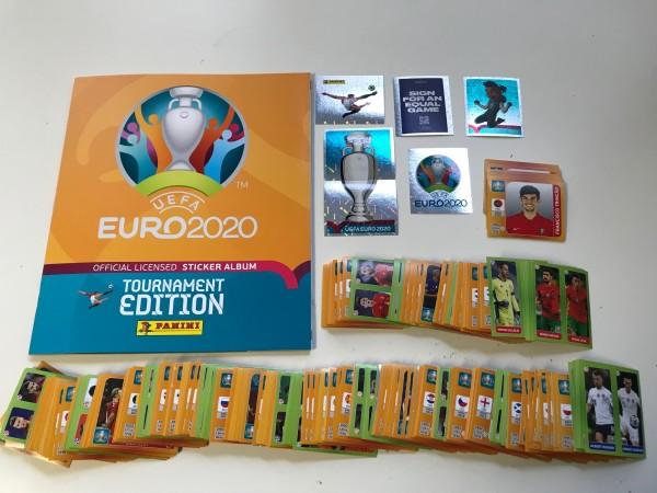 Panini UEFA EM 2020 Tournament Edition (2021) - komplettsatz ( alle Sticker lose + Album )