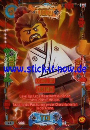 "Lego Ninjago Trading Cards - SERIE 5 ""Next Level"" (2020) - Nr. 77 (Level Up)"