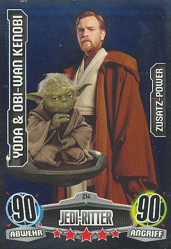 Force Attax - YODA & OBI-WAN KENOBI - Jedi-Ritter - ZUSATZ-POWER - Movie Collection