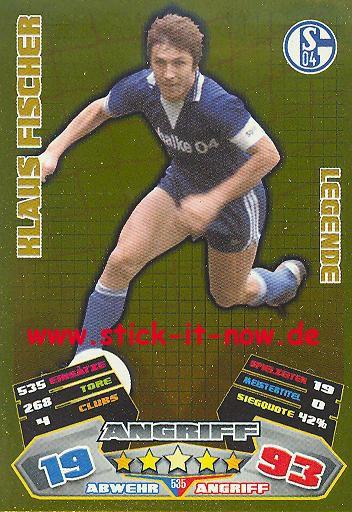 Match Attax 12/13 EXTRA - Kaus Fischer - FC Schalke 04 - LEGENDE - Nr. 535