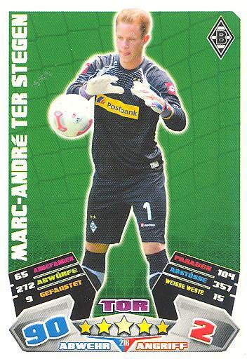 Match Attax 12/13 - Marc-André Ter Stegen - Bor. M'gladbach - Nr. 218