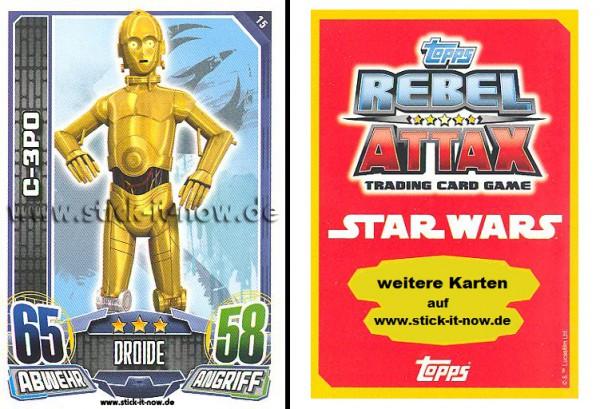 Rebel Attax - Serie 1 (2015) - C-3PO - Nr. 15