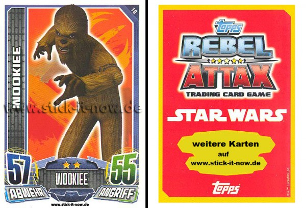 Rebel Attax - Serie 1 (2015) - WOOKIEE - Nr. 10