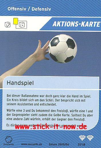 SocCards 05/06 - Aktions-Karte - Nr. 27/58
