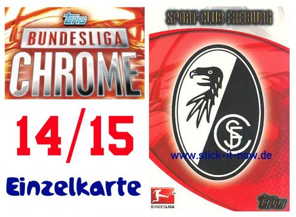 Sc Freiburg Karten.Topps Bundesliga Chrome 14 15 Sc Freiburg Nr 220 Club Karte