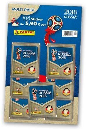 """Panini WM 2018 Russland """"Sticker"""" - Multipack (7 Tüten)"""