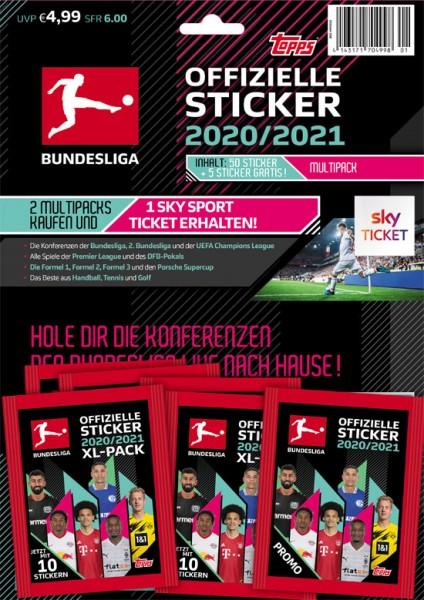 """Topps Fußball Bundesliga 2020/21 """"Sticker"""" (2020) - Multipack"""