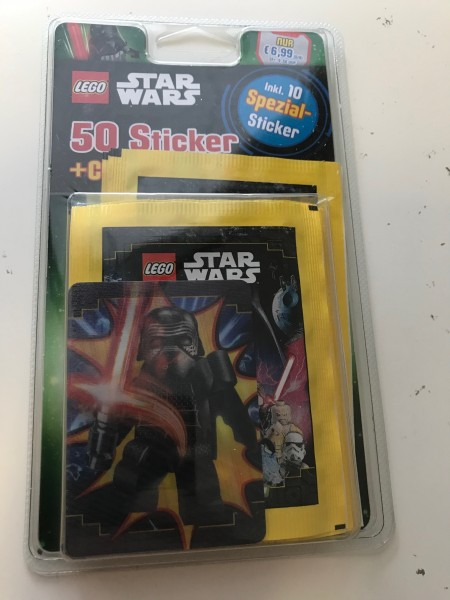 """Lego Star Wars """"Sticker-Serie"""" (2020) - Blister 4 ( 10 Tüten + Wackelkarte 4 )"""