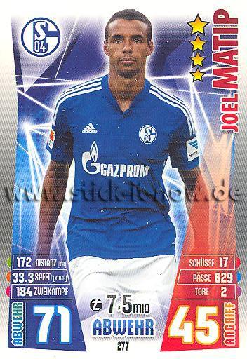 Match Attax 15/16 - Joel MATIP - FC Schalke 04 - Nr. 277
