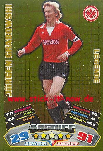 Match Attax 12/13 EXTRA - Jürgen Grabowski - Ein. Frankfurt - LEGENDE - Nr. 502