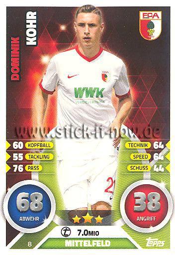 Dominik Kohr Match Attax 16//17 2017-8